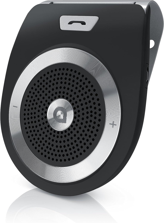 Aplic - Altavoz Coche Bluetooth v4.1 - Conexión simultánea de 2 Dispositivos Smartphones - Altavoz 2W - A2DP Streaming para reproducción de música, Podcast, audiolibros, etc.
