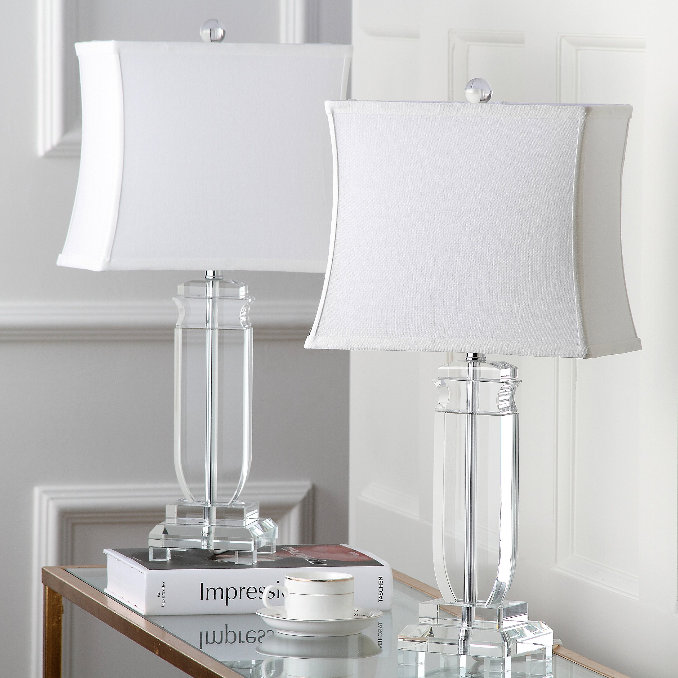 Safavieh Lighting Collection Olympia Crystal 25-inch Table Lamp (Set of 2)