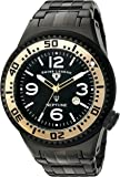 Swiss Legend Men's 'Neptune Force' Swiss Quartz Stainless Steel Casual Watch, Color:Black (Model: 21819P-BB-11-GA)