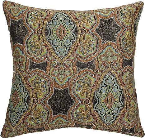 Amazon Com Michael Amini Distinctive Bedding Designs Throw Pillow Noir Home Kitchen