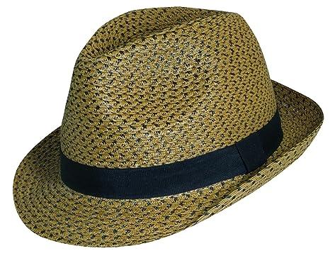 4e275a26646 Dorfman Pacific Two Tone Paper Braid Snap Brim Fedora at Amazon Men's  Clothing store: