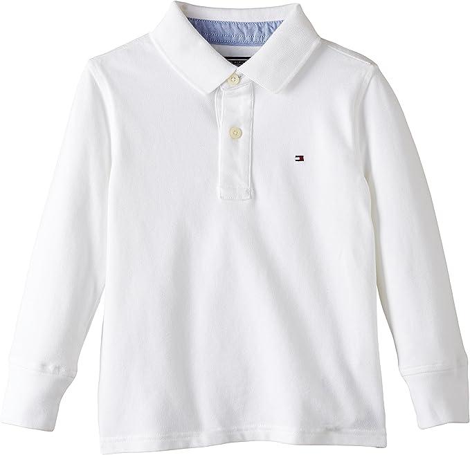 Tommy Hilfiger Tommy Polo L/S Camiseta para Niños: Amazon.es: Ropa ...
