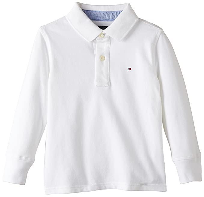 Tommy Hilfiger Tommy Polo L/S, Blanco, 12-18 Meses para Niños ...