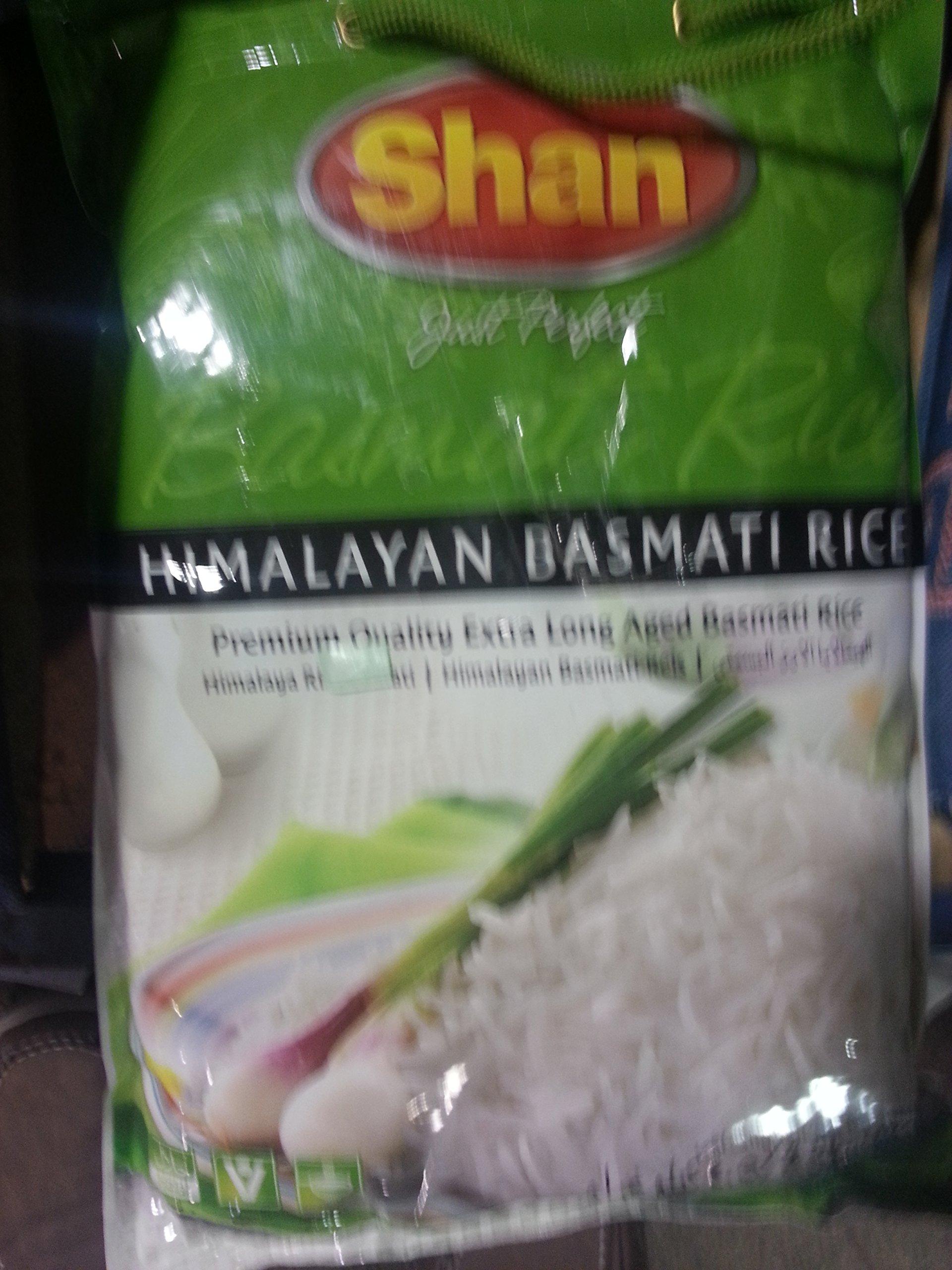 Shan Himalayan Basmati Rice 10 Lb