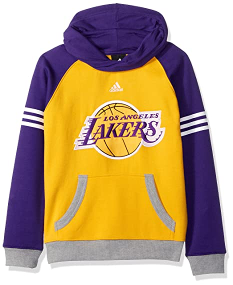 adidas Los Angeles Lakers Youth Gioventù NBA Robust Pullover Hooded  Sweatshirt Felpa 5d00f3bb4802
