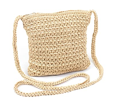 Boho Crochet Crossbody Handbag Organizer Sling Bag Small Crocheted