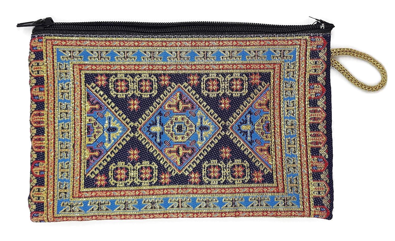 Mystic Jewels - Monedero para Tarjetas, Llaves - diseño de Alfombra - Turco Traditional (15x10cm) (Color2)