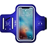 TRIBE Water Resistant Cell Phone Armband Case for iPhone X, Xs, 8, 7, 6, 6S Samsung Galaxy S9, S8, S7, S6, A8 with…