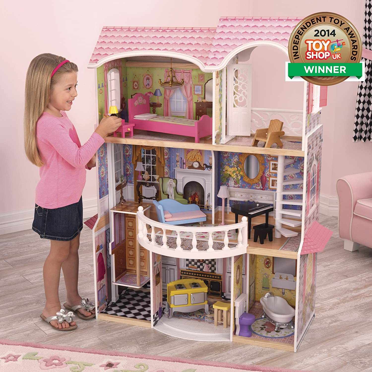 Amazoncom KidKraft Magnolia Mansion Dollhouse with Furniture