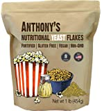 Anthony's Premium Nutritional Yeast Flakes, 1 lb, Fortified, Gluten Free, Non GMO, Vegan