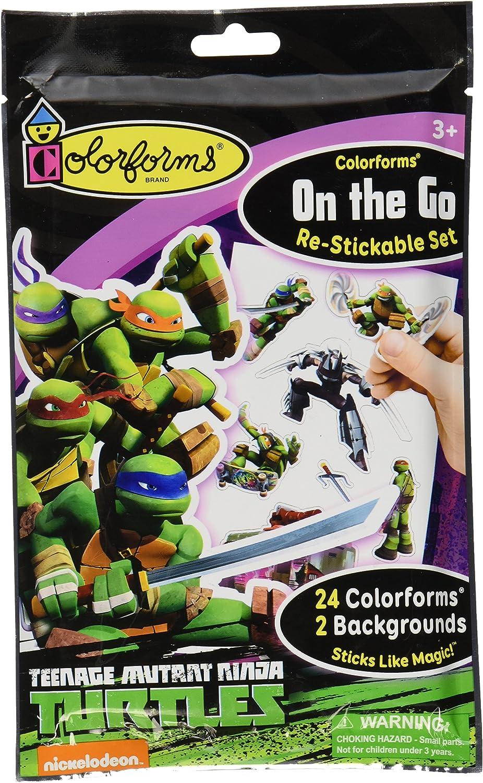 Colorforms Brand Teenage Mutant Ninja Turtles On The Go Restickable Set