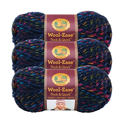 Lion Brand Wool-Ease Thick /& Quick Yarn-Iris 3 Pack