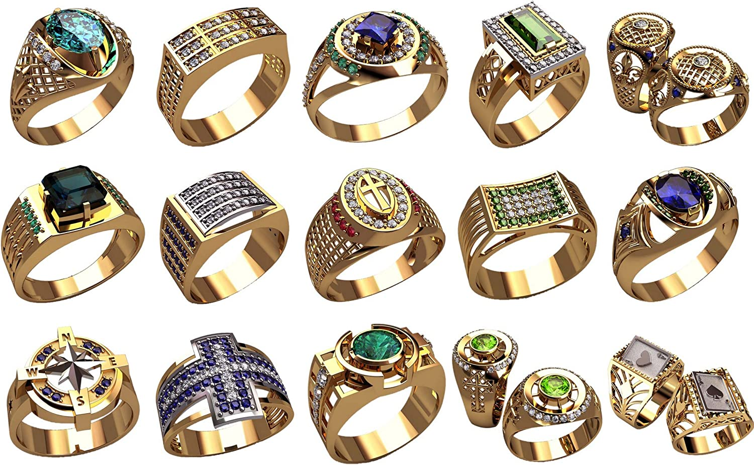 5 pcs Ladie/'s  ring Wax patterns for lost wax casting Gold  jewelry ke-0120