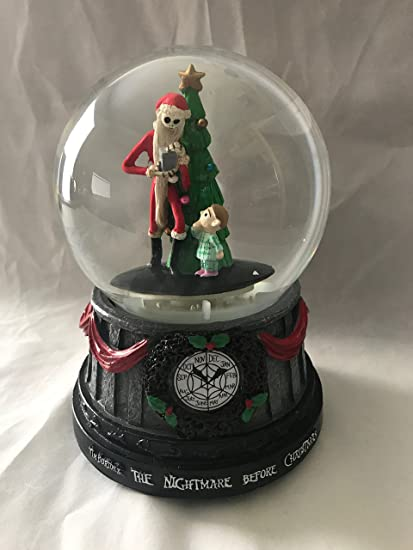 the nightmare before christmas jack skellington christmas tree musical snomotion waterglobe - Jack Skellington Christmas Tree