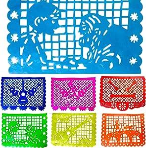 TexMex Fun Stuff Papel Picado Inspirado en Coco, banderines Decorativos para Fiestas mexicanas con los Colores del arcoíris, 2 Paquetes, 30 pies: Amazon.es: Hogar