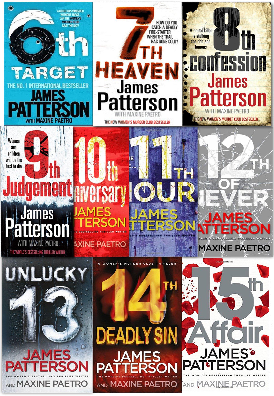 James Patterson Women's Murder Club Series 10 Books Collection Set: James  Patterson: 9789526524122: Amazon.com: Books