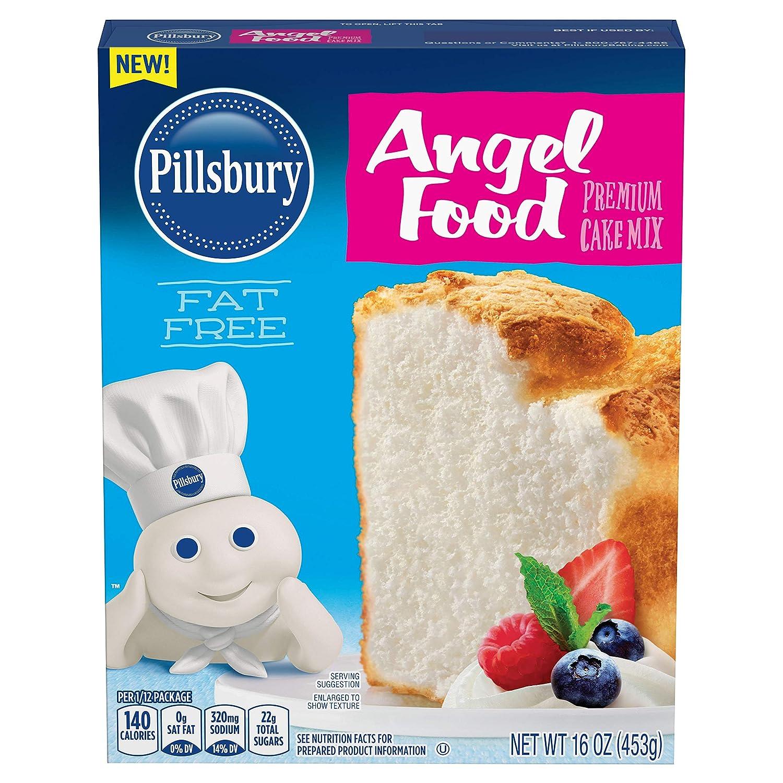 Pillsbury Angel Food Premium Cake Mix, 16-Ounce (Pack of 12)