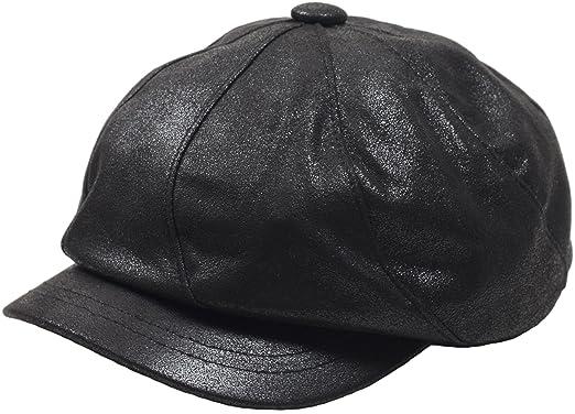 945062208b7 Raon N169 Women 8 Panel Sexy Newsboy Leather IvyCap Cabbie Cute Flat Gatsby  Beret Hat (