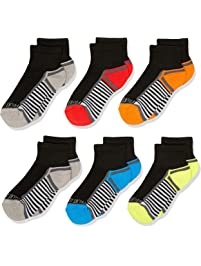 Fruit of the Loom boys 6-pair Half Cushion Ankle Socks Casual Sock