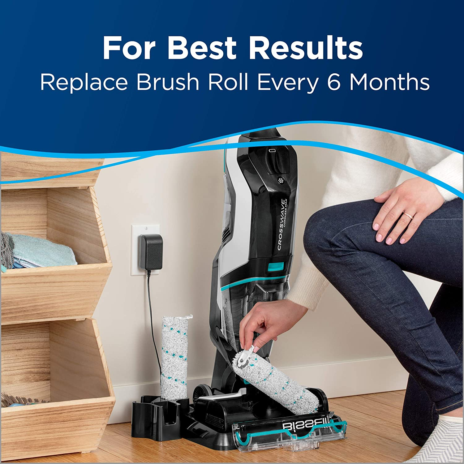 2787 CrossWave Cordless Max Mulit-Surface Brush Roll For BISSELL New Part
