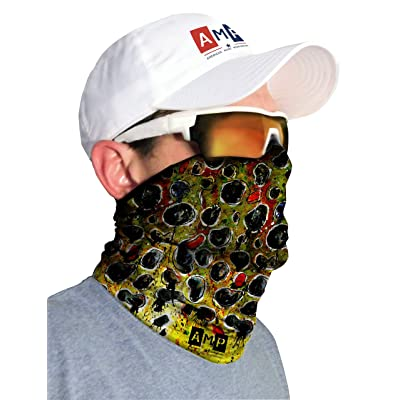 AMP Fishing Neck Gaiter Brown Trout SPF/UPF 50+ by American Made Performance
