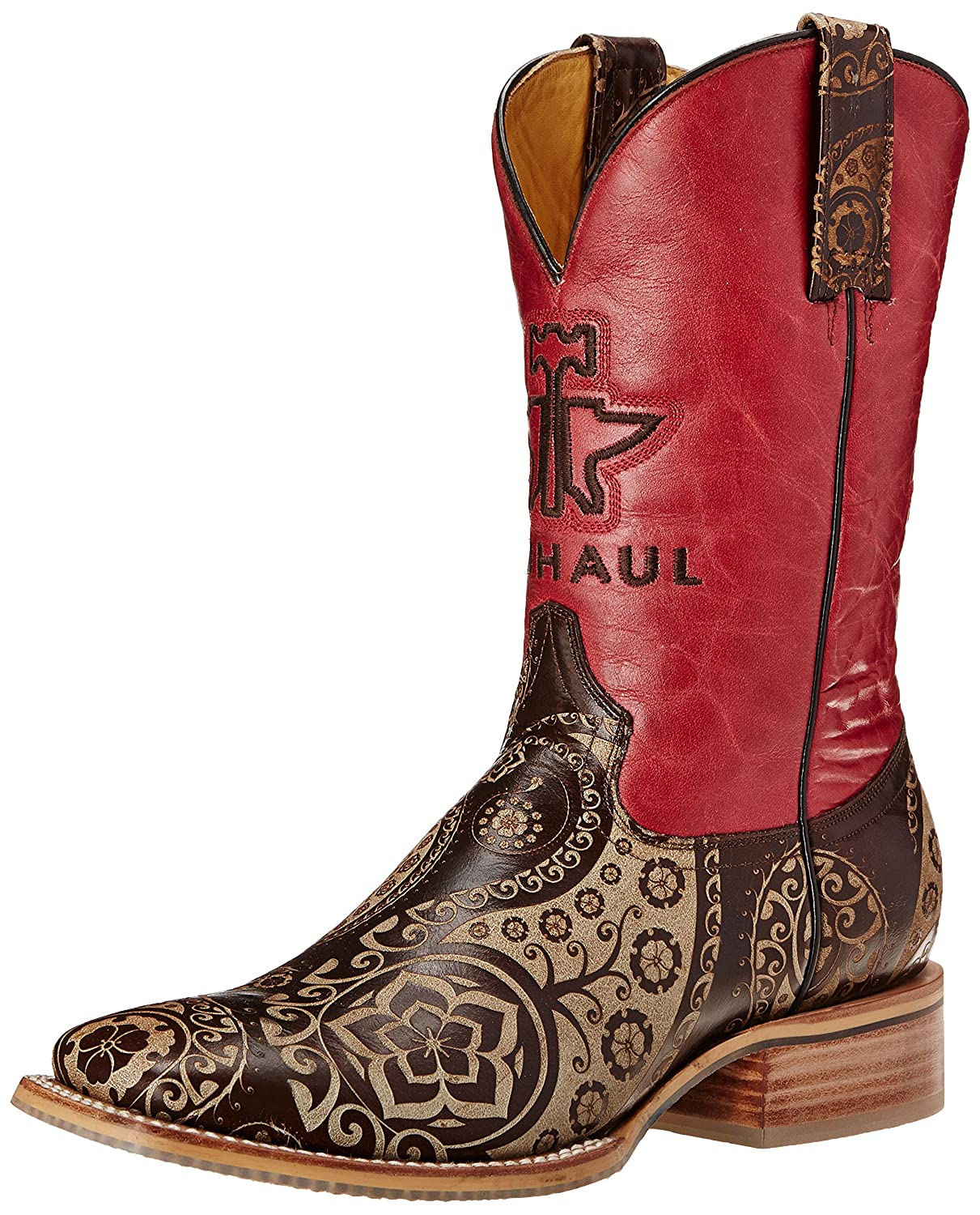 Tin Haul Shoes Women's Paisley Rocks Western Boot B00SNQVCHI 10 B(M) US|Tan/Red