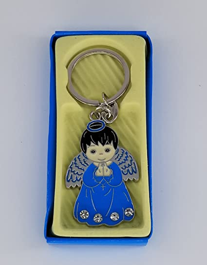 Amazon.com: 12 Pcs Boy Angel Blue Keychain First Communion ...