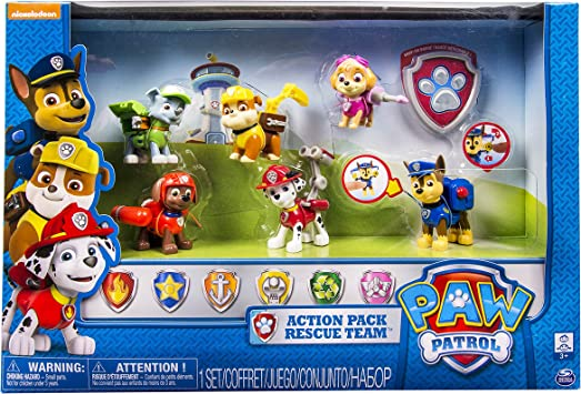 Paw Patrol 6024030 - Salvavidas Figurine, Paquete de 6: Amazon.es: Juguetes y juegos