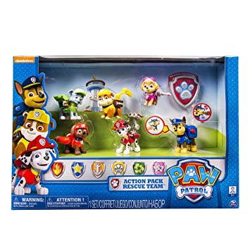 Paw Patrol 6024030 Pack 6 Figures Backpack Tisjana The Pat