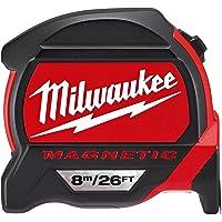 Milwaukee 48227225 Premium Magnetic Tape Measure HP8-26Mg/27, Red/Black