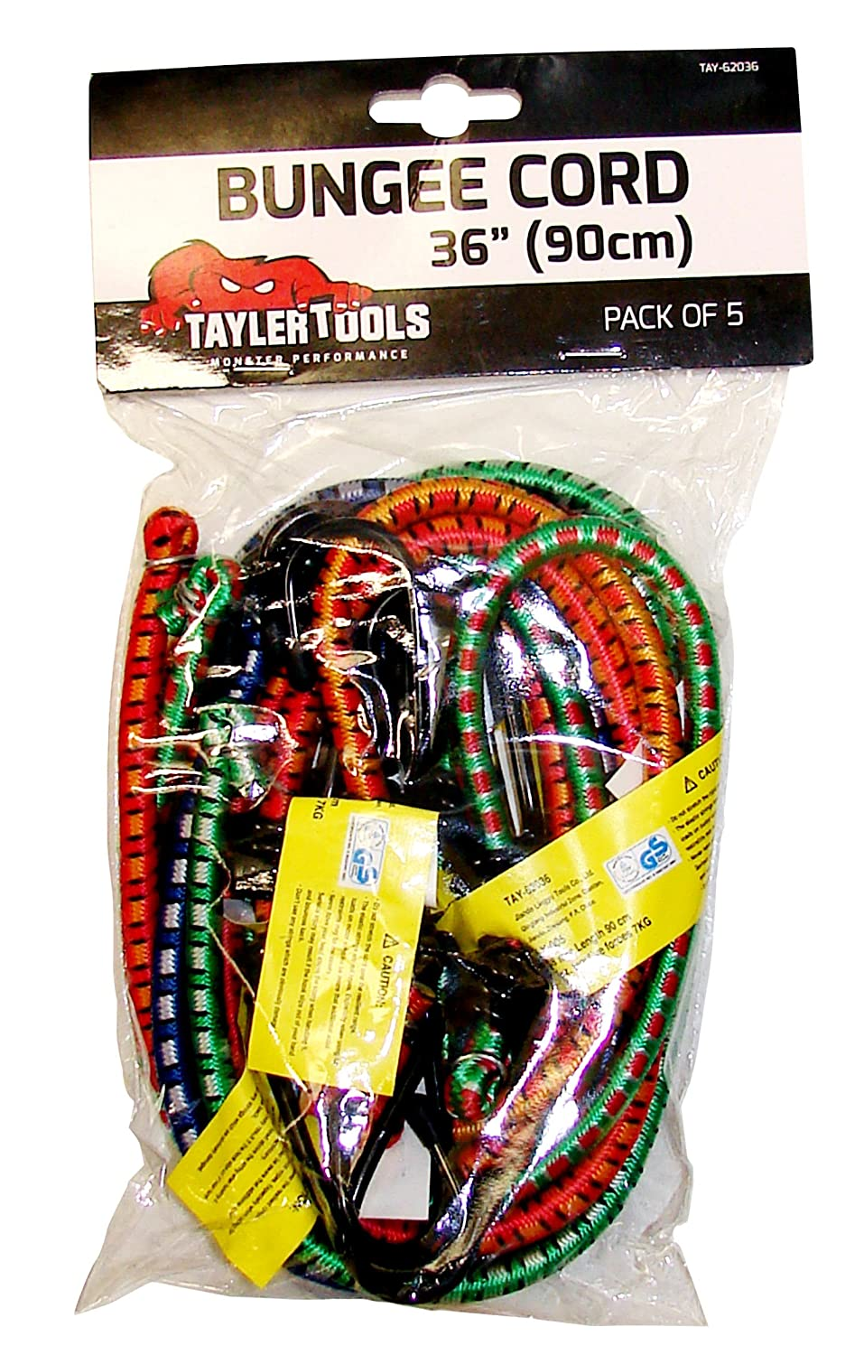 Taylor Tools TAY-62036 Heavy Duty Bungee Cord 90cm/36 5 Pack, Set of 5 Pieces