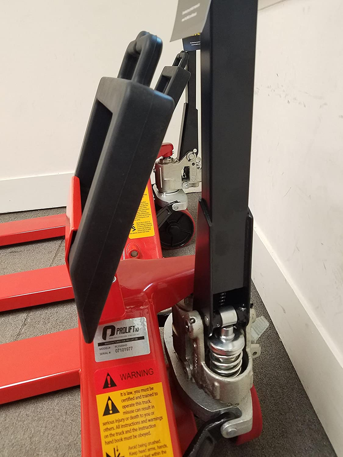 Truckers Choice Complete Package Mounts to almost any Pallet Jack Pallet Jack Stop Chock and Bracket