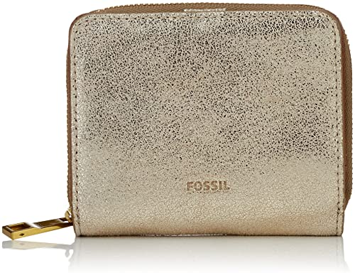 Fossil - Damen Geldbörse Emma Rfid Mini Multifunction, Carteras Mujer, Gold (Pale Metallic