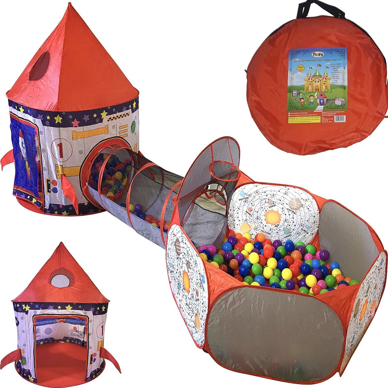 Playz 3pc Rocket Ship Astronaut Kids Play Tent