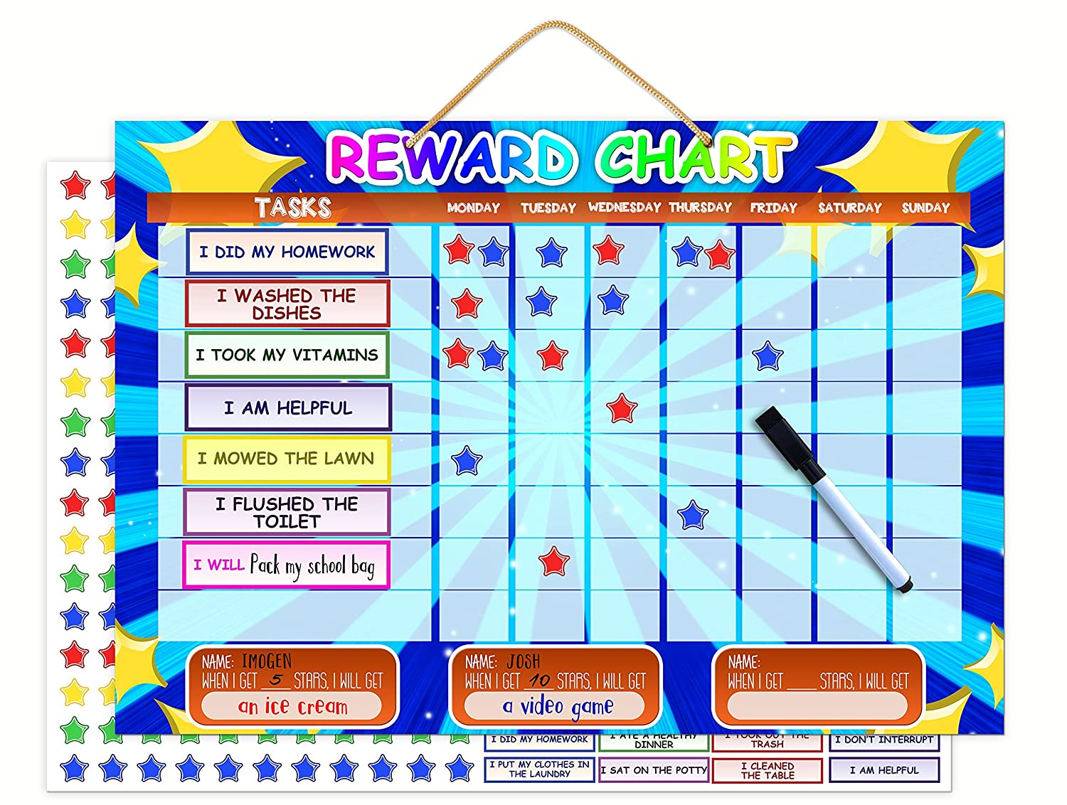 low-cost Magnetic Reward Chart | Dry Erase Children\'s Chore And Task ...