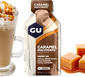 GU Energy Original Sports Nutrition Energy Gel, Caramel Macchiato, 24 Count Box