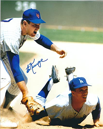 Autographed Ed Kranepool 8x10 New York Mets Photo