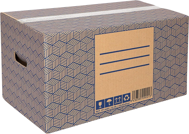 Pack 20 Cajas Carton Mudanza y Almacenaje Grandes y Ultra Resistentes con Asas, 100% ECO Box | Packer PRO