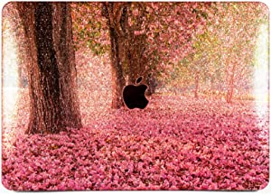 """Cavka Hard Glitter Case for Apple MacBook Pro 13"""" 2019 Retina 15"""" Mac Air 11"""" Mac 12"""" Bling Floral Trendy Cover Glossy Design Spring Sparkly Flowers Print Pink Shiny Cherry Blossom Rose Gold Silver"""