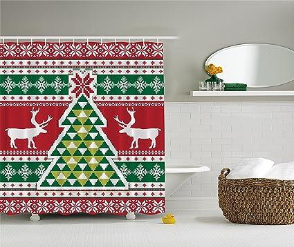 Amazon Ambesonne Christmas Knitting Pattern Christmas Tree Mesmerizing Christmas Knitting Patterns