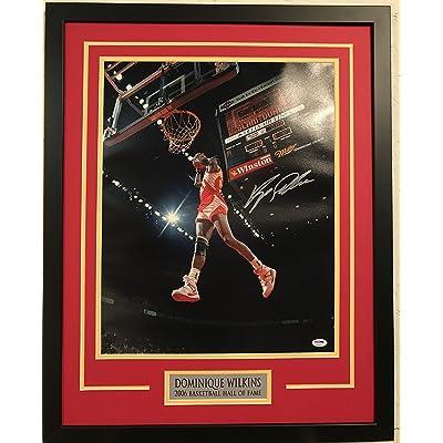 d3494952e Dominique Wilkins Autographed Atlanta Hawks Custom Framed 16x20 Photo PSA DNA  COA