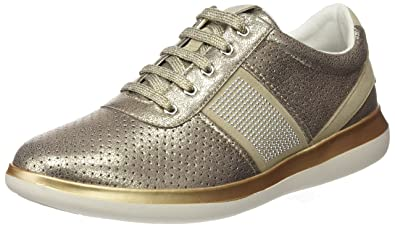 Geox Damen D Gomesia C Sneaker, Beige (Lt Taupe), 40 EU