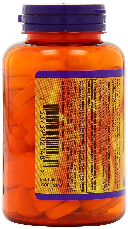 Now Foods, D-ribosa, Masticables, Sabor a Naranja - 1500mg x90tabs: Amazon.es: Salud y cuidado personal