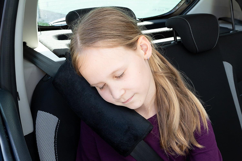 Inocua Almohadilla infantil para cintur/ón rosa Para dormir en coches LIONSTRONG