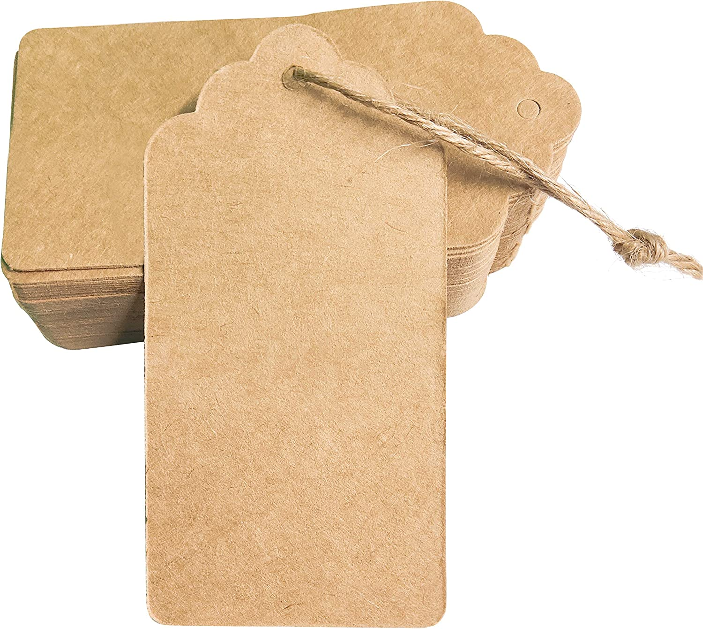 INHEMI 24 Pi/èces Sac kraft,Sac en Papier Kraft avec Poign/ée,100 Pi/èces Cadeau Tags Vintage /étiquettes Cadeaux en Papier Kraft Tags Perforation D/écor de Mariage No/ël F/ête avec Corde 3m