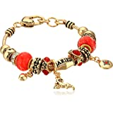 Aries Zodiac Sign Gold Tone Charm Bracelet
