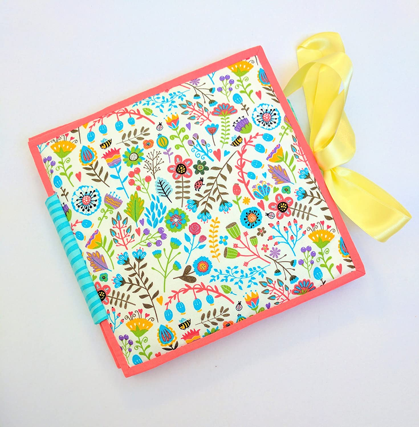 Quiet mini book for Girls Activity toy 4 pages Textile Busy for children