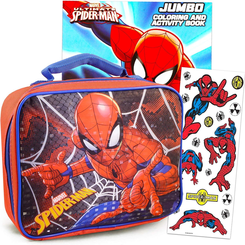 Amazon.com: Spiderman Lunch Box Travel Activity Set ...