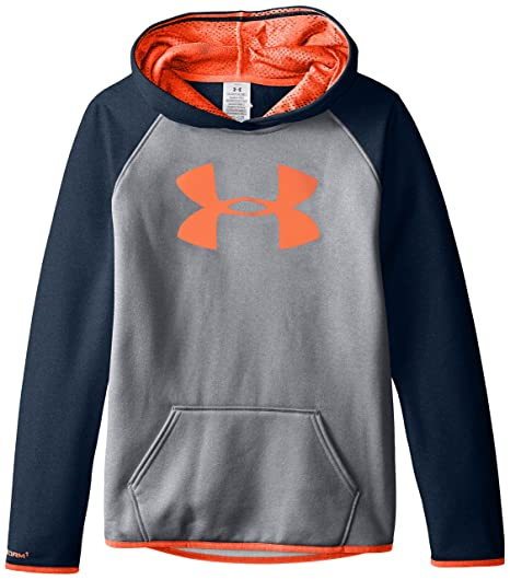 6056aa8afe4a Amazon.com: Under Armour Girls' Armour Fleece Big Logo Hoodie: Clothing