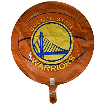 "Anagram International Golden State Warriors Flat Party Balloons, 18"", Multicolor: Kitchen & Dining"